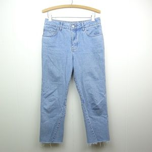 TOPSHOP Womens Jeans US Size 6 Cropped Frayed Hems